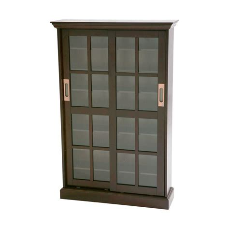 media cabinet with sliding doors home decorators collection espresso media storage ms1071t
