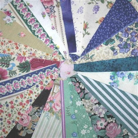 Precut Quilt Fabric by 4 Inch Precut Vintage Fabric Quilt Squares Kit Green
