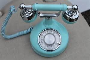Old Desk Phone Vintage French Rotary Phone Tiffany Blue Retro Teal And