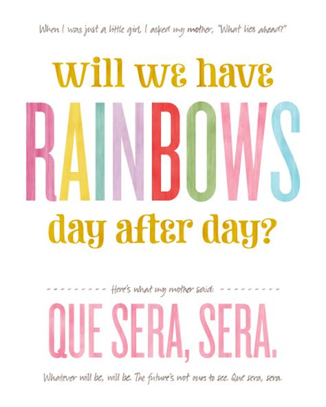making it lovely will we have rainbows day after day free printable
