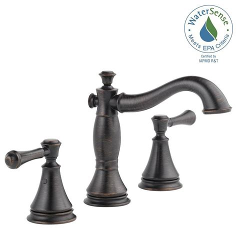 bronze drain assembly delta cassidy 8 in widespread 2 handle bathroom faucet