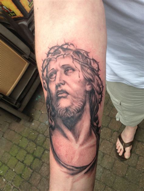 tattoo jesus forearm jesus tattoos and designs page 52