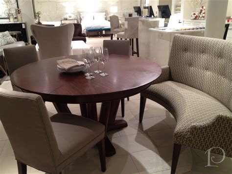 round dining table bench seating intimate and affectionate dining atmospheres with curved