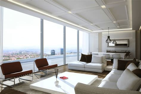 white appartment living rooms with great views