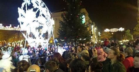 real christmas trees liverpool re read snowflake trail launches in liverpool as tree lights are switched on