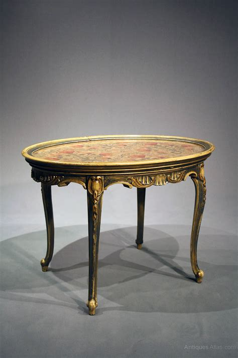 Coffee Tables Painted Antique Oval Painted Coffee Table Antiques Atlas