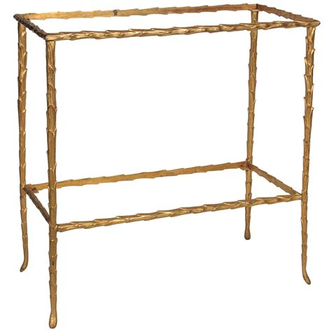 small bamboo table bronze faux bamboo small table attributed to bagues at 1stdibs