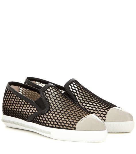 mytheresa mesh slip on sneakers luxury fashion for