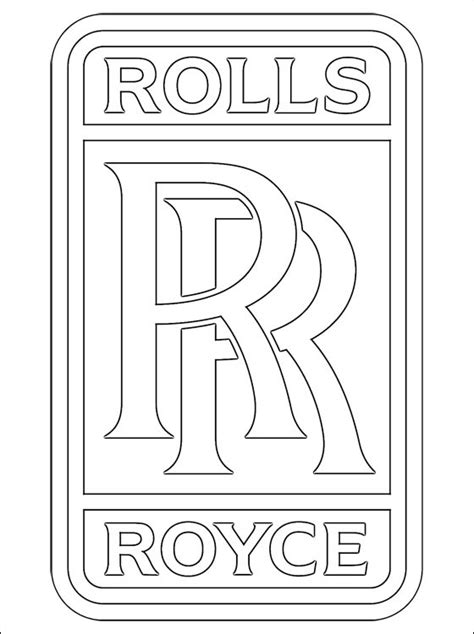 Rolls Royce Logo Font Rolls Royce Coloring Page Coloring Pages