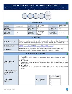 slo template memo template doc forms fillable printable sles for