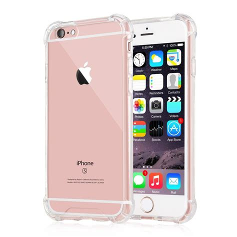 capinhas para iphone 6s plus bordas translucida tpu silicone gel anti impacto