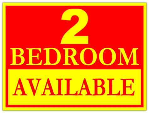 Apartment Designer Tool 2 bedrooms available sign apartment advertising