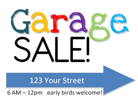 How Much Change For A Garage Sale by Garage Sale Sign Free Printable W Yardsale Tips Tricks