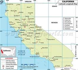 california latitude and longitude map 4th grade social