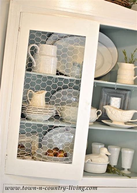 chicken wire kitchen cabinets summer farmhouse decorating tips for the glasses and
