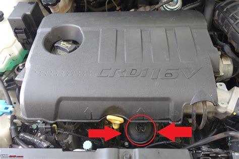 Filtet Oli Hyundai I20 Dieael diy engine filter change on the hyundai verna crdi team bhp