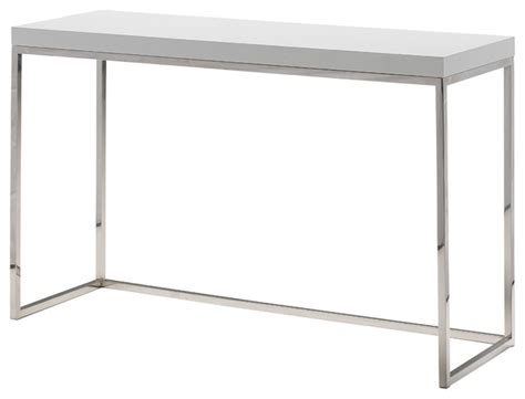 white high gloss sofa table kubo sofa table walnut contemporary console tables by mobital usa inc