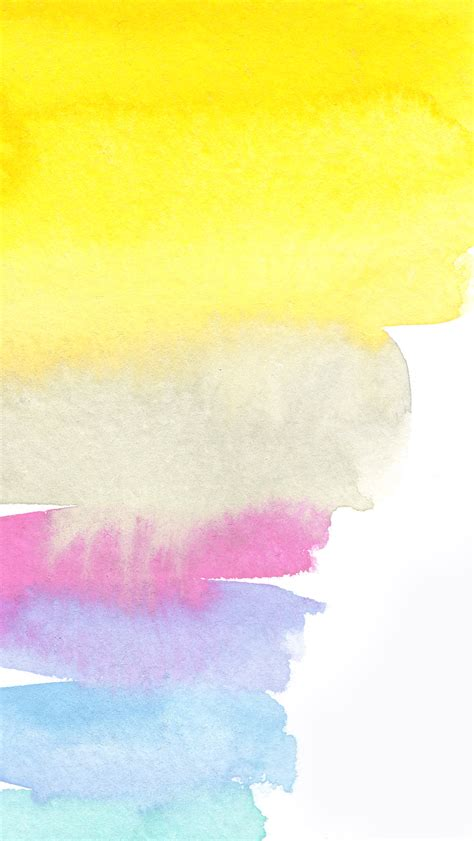 wallpaper yellow pink blue yellow white pink lilac blue watercolour brush strokes art