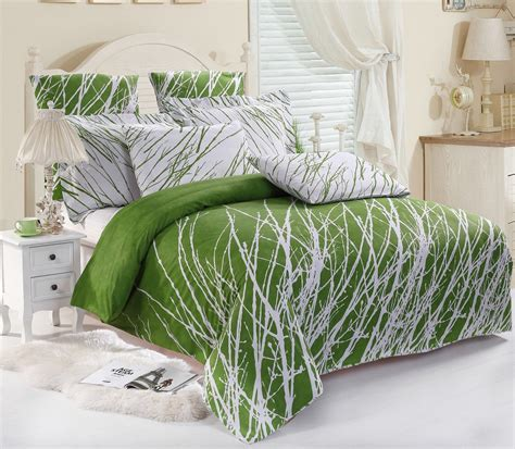heavy weight comforter trees 100 cotton duvet cover set sheets pillow shams