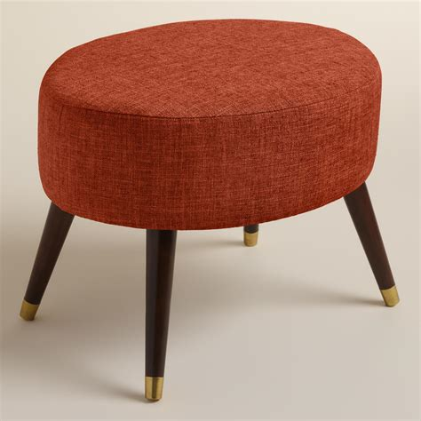 Kern Oval Upholstered Ottoman World Market Cost Plus Ottoman