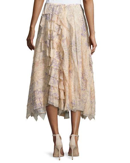 Asymmetric A Line Skirt michael kors asymmetric ruffle a line skirt