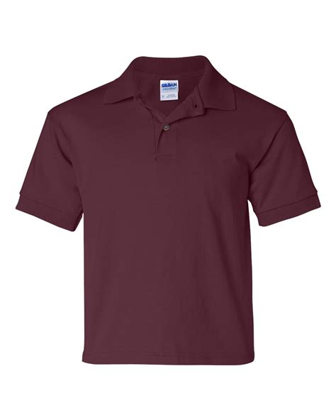 Kaos Polos Gildan Blue Sapphire Size S gildan youth poly cotton jersey style polo shirt item 8800b big spiritwear