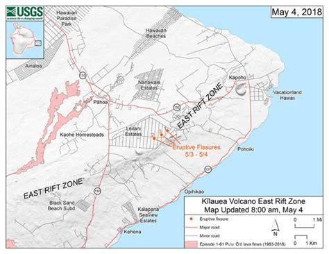 lava erupts  fourth vent  leilani estates hawaii