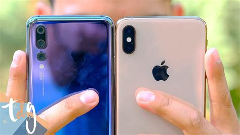 iphone xs max vs huawei p20 pro rivalidad extrema mobile arena