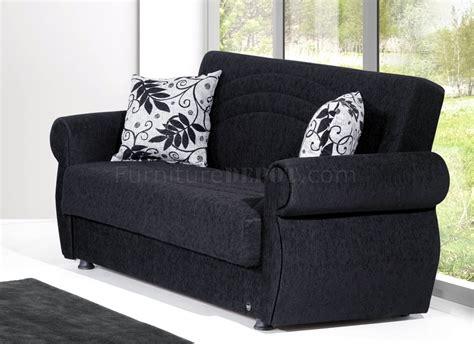 loveseat black rain sofa bed loveseat set in black chenille by rain w