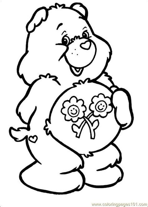 care bear coloring pages pdf coloring pages care bears 61 cartoons gt care bears