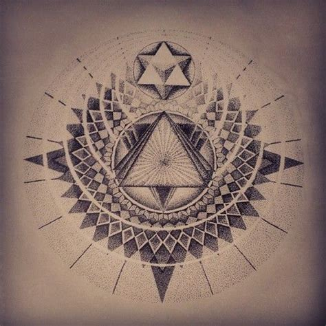 tattoo mandala triangle jake haselman dotwork sacredgeometry tattoo