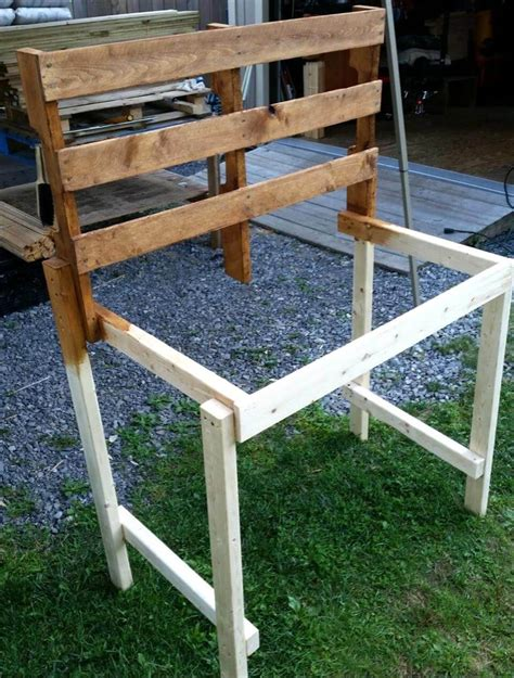 how to make a pallet bench pallet potting bench step by step