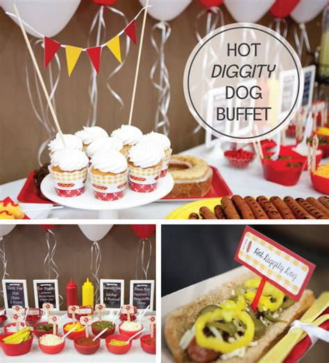 hot birthday themes hot dog barbecue party supplies hot diggity dog party