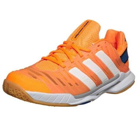 Adidas Sepatu Tennis Badminton Barricade Court White Orange Shoes Ori adidas adipower stabil 10 1 orange adidas squash shoes