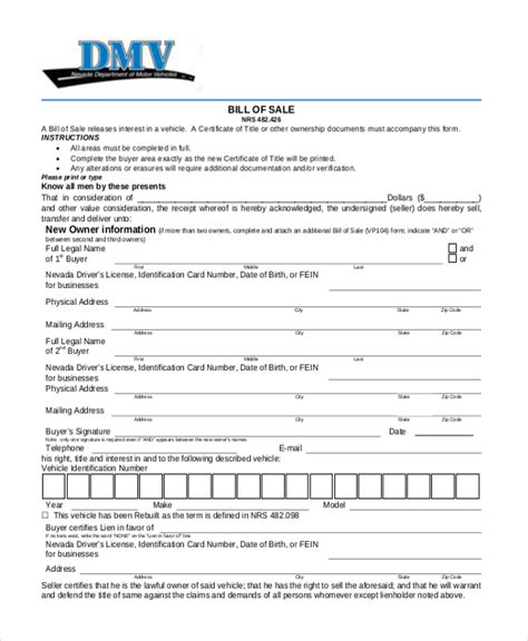 bill of sale dmv connecticut dmv bill of sale