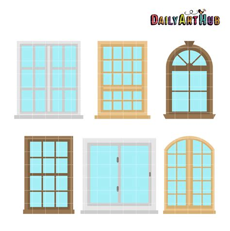 house window house windows clip art set daily art hub