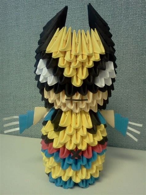 wolverine 3d origami wolverines