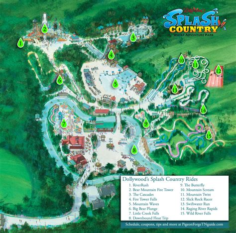 dollywood map splash country hours rides map etc dollywood splash country guide