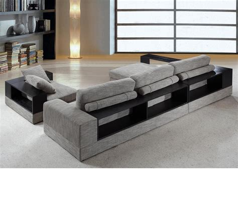 Fabric Sectional Sofas With Chaise Dreamfurniture Divani Casa Anthem Modern Fabric