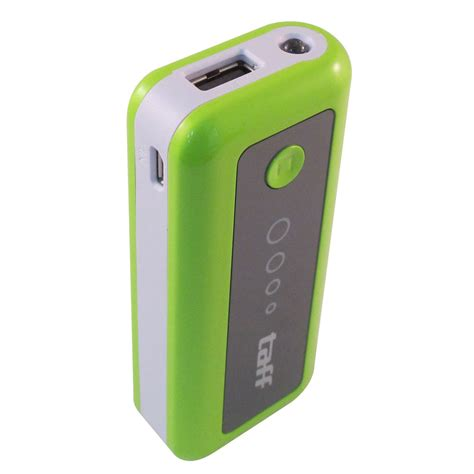 Power Bank Taff taff power bank 5200mah model mp5 no box for tablet and smartphone mp5 green with white