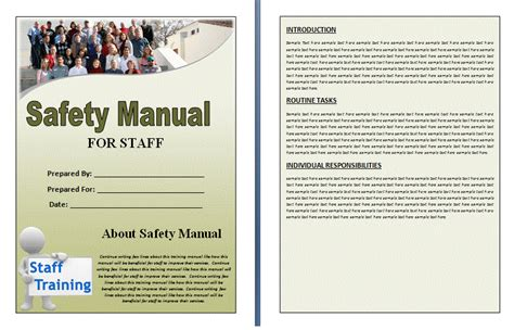 food safety manual template safety manual template formsword word templates