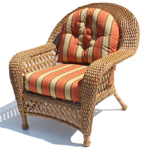 wicker furniture cushions chair set