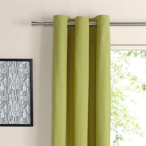 zen curtains zen lime plain eyelet curtains w 167 cm l 228 cm