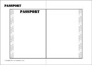 Passport Template Free Editable Passport Writing Frame Template Sb9562 Sparklebox