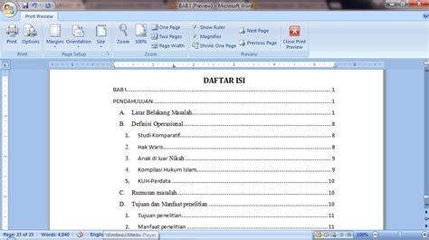 cara membuat format daftar isi secara otomatis cara membuat format daftar isi secara otomatis daftar isi