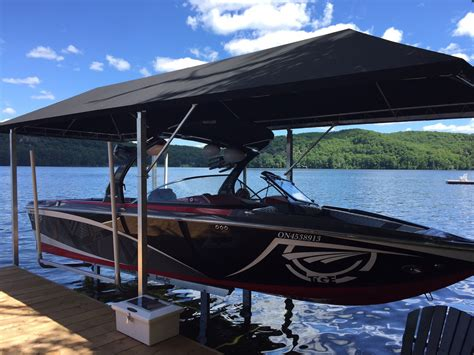 floating boat dock canopy canopies sunstream boat lifts brad hutchinson