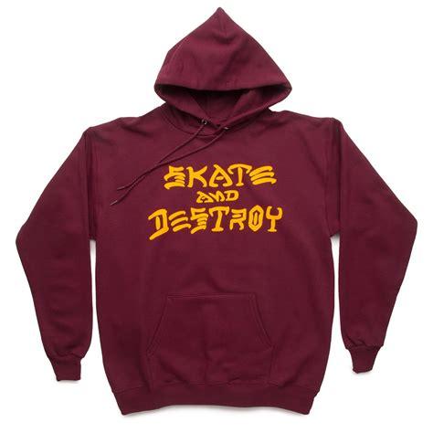 Despo Jacket Maroon Sweat Shop thrasher skate and destroy hoodie sweatshirt maroon