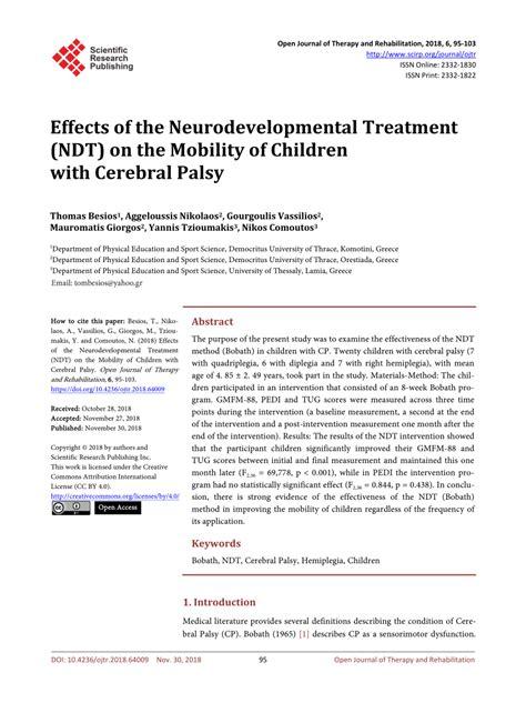 (PDF) Effects of the Neurodevelopmental Treatment (NDT) on