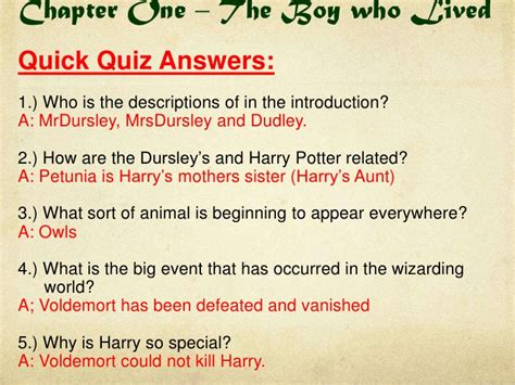 quiz questions books harry potter book 1 quick quizzes and do now tasks