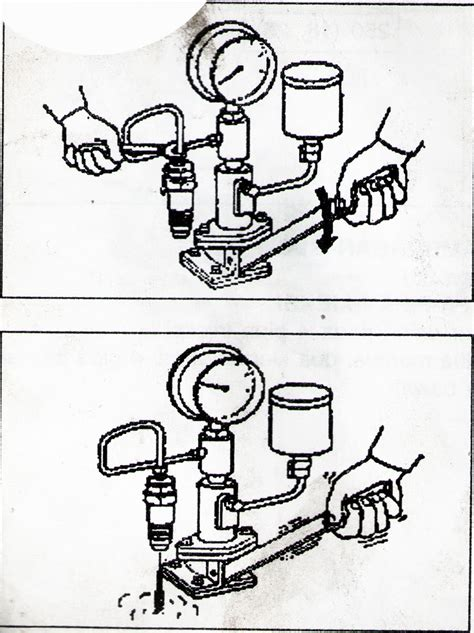 Alat Tes Nozzle otomotif pemeriksaan injektor dari diesel